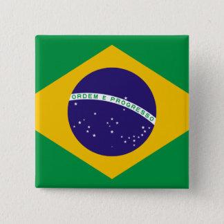 Flag of Brazil 15 Cm Square Badge