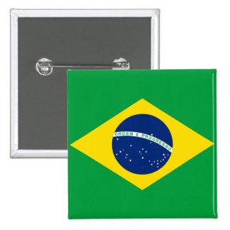 Flag of Brazil, Brazilian 15 Cm Square Badge