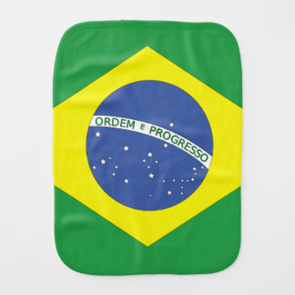 Flag of Brazil Burp Cloth