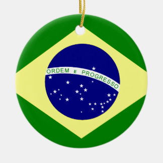 Flag of Brazil Christmas Ornament