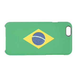 Flag of Brazil Clear iPhone Case