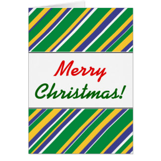 Flag of Brazil Inspired Colored Stripes Pattern Card