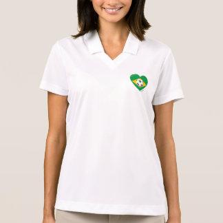 Flag of BRAZIL National SOCCER Team 2014 Polo