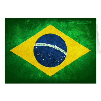 Flag of Brazil Note Card