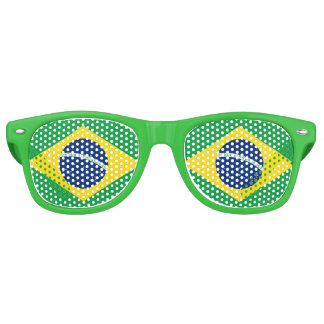 Flag of Brazil Retro Sunglasses