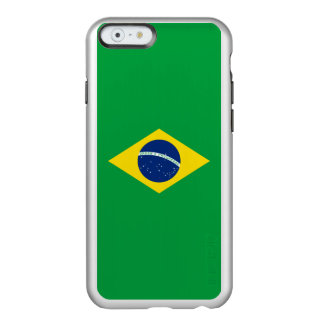 Flag of Brazil Silver iPhone Case