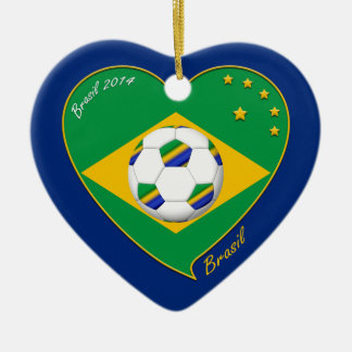 Flag of BRAZIL SOCCER champion of the world-wide o Ornament