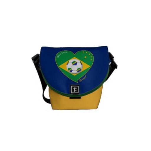 Flag of BRAZIL SOCCER champion of the world-wide o Messenger Bag