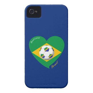 Flag of BRAZIL SOCCER national team 2014 Case-Mate iPhone 4 Case
