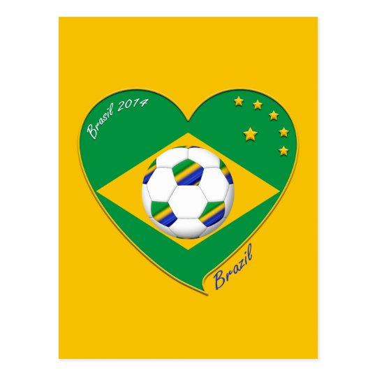 Flag of BRAZIL SOCCER of champions of the world Postcard