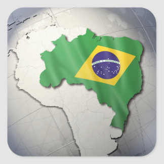 Flag of Brazil Square Sticker