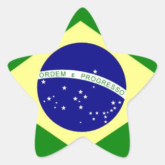 Flag of Brazil Star Sticker