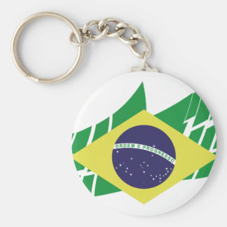 Flag of Brazil style Key Ring