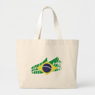 Flag of Brazil style Large Tote Bag