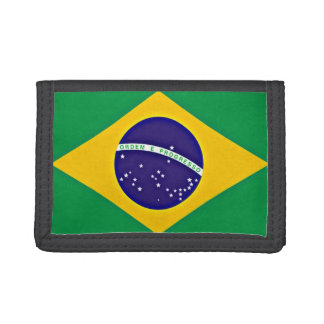 Flag of Brazil Trifold Wallets