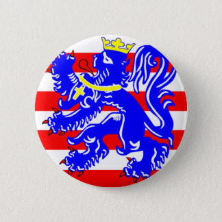 Flag of Bruges 6 Cm Round Badge