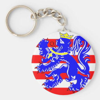 Flag of Bruges Key Ring