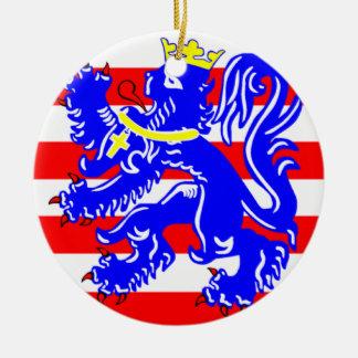 Flag of Bruges Round Ceramic Decoration
