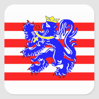 Flag of Bruges Square Sticker