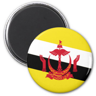 Flag of Brunei 6 Cm Round Magnet