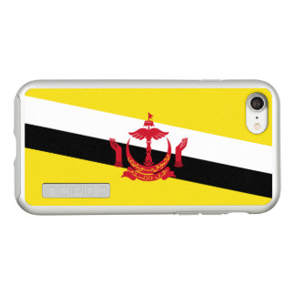 Flag of Brunei Silver iPhone Case