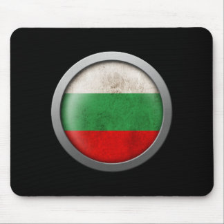 Flag of Bulgaria Disc Mouse Pad