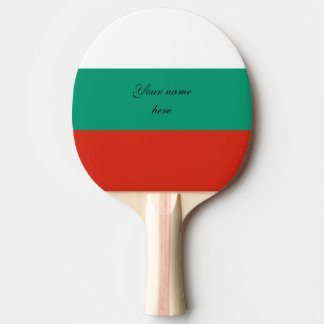 Flag of Bulgaria or Bulgarian Ping Pong Paddle