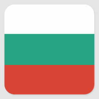 Flag of Bulgaria or Bulgarian Square Sticker