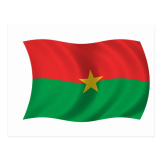 Flag of Burkina Faso Postcard