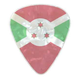 Flag of Burundi Guitar Picks Pearl Celluloid Guitar Pick