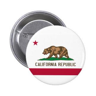 Flag of California 6 Cm Round Badge