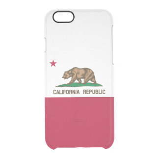 Flag of California Clear iPhone Case