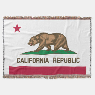 Flag of California Republic Throw Blanket