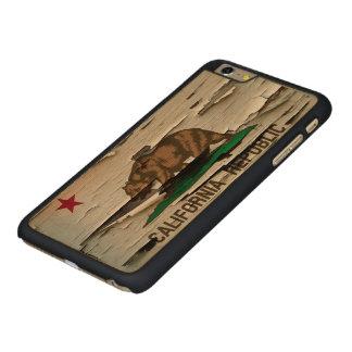 Flag of California Republic Vintage Wood Peel Look Carved® Maple iPhone 6 Plus Slim Case