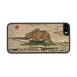 Flag of California Republic Vintage Wood Peel Look Wood iPhone SE/5/5s Case