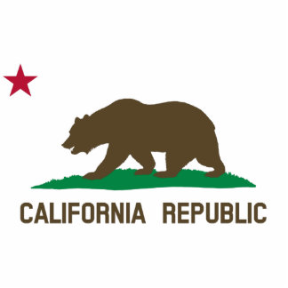 Flag of California Standing Photo Sculpture