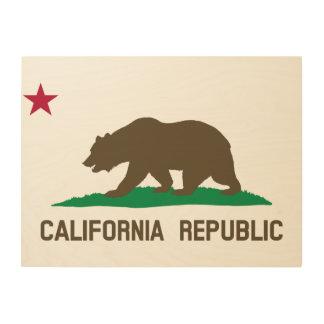 Flag of California Wood Wall Art
