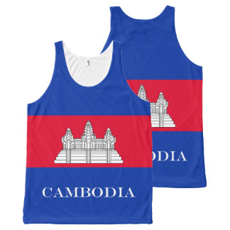 Flag of Cambodia All-Over Print Tank Top