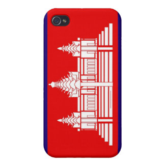 Flag of Cambodia iPhone 4 Covers