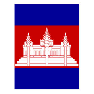 flag of cambodia post card