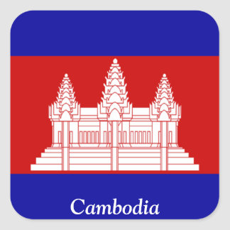 Flag of Cambodia Square Sticker