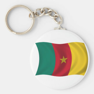 Flag of Cameroon Basic Round Button Key Ring