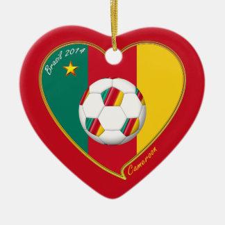 Flag of CAMEROUN national SOCCER of world 2014