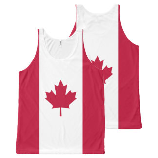 Flag of Canada All-Over Print Tank Top
