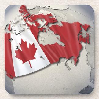 Flag of Canada Beverage Coaster