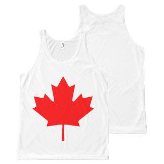 Flag of Canada, Drapeau du Canada All-Over Print Tank Top