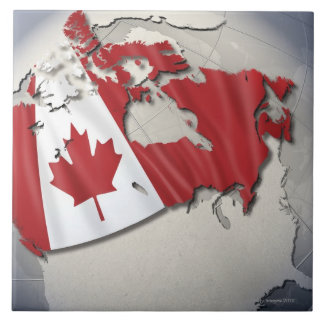 Flag of Canada Large Square Tile