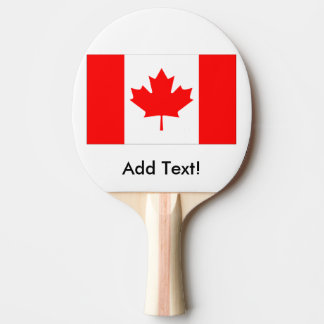 Flag of Canada Ping Pong Paddle