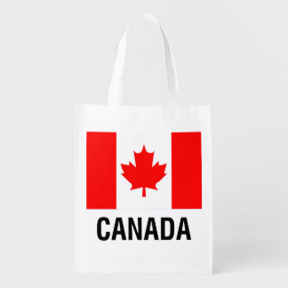 FLAG  of CANADA Reusable Grocery Bag