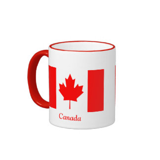 Flag of Canada Ringer Mug